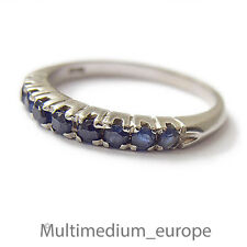 750er Weißgold Ring Saphir blau white gold ring blue sapphire 18ct 18k Safir