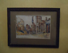 Aquarelle « Henri De JAEGHER » Reims en Ruine – Guerre 1914-1918 WW1 - Art Price