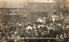 Field Marshal Earl Roberts unveiling Wolfe Statue Westerham 1911 RP pc used 1925