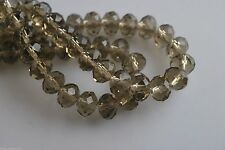 Bulk 500Pcs Crystal Glass Faceted Rondelle Beads 4mm Spacer Jewelry Findings NEW