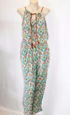 GOLDEN FASHION Brand Green Paisley Jumpsuit Size S BNWT #SP46