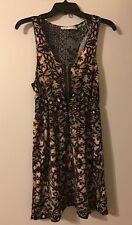 Urban Outfitters Kimchi Blue Racerback Lace Design Dress Black & Blush Size M