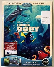 NEW DISNEY FINDING DORY BLU RAY DVD + SLIPCOVER BEST BUY EXCLUSIVE 69 PAGE BOOK