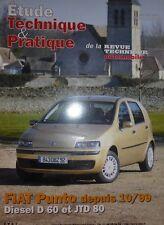 NEUF Revue technique FIAT PUNTO DIESEL D60  JTD 80 depuis 99 RTA ETP649.04.2002