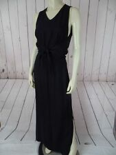 TOMMY BAHAMA Dress 6 Long Black Silk Faux Halter Attached Sleeveless Top 1pc HOT