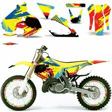 Decal Graphic Kit Suzuki RM 250 RM250 Dirt Bike Number Backgrounds Deco 99-00 MO