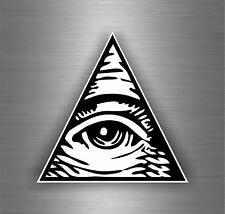 Sticker decal art wall car moto biker illuminati pyramid eye of providence see B