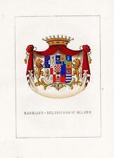 Araldica stemma araldico della famiglia Barbiano - Belgiojoso di Milano