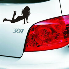 Reflective Car Stickers Beauty Sexy Angel and Devil Beauty Waterproof Decal NEW