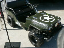 150cc WWII Willys Army Jeep Replica 2WD Semi Auto Golf Cart Buggy Go Kart UTV