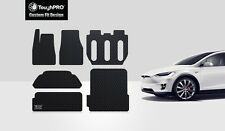 ToughPRO Heavy Duty Black Rubber For 2016 Tesla Model X 7 Seater Floor+Trunk Mat