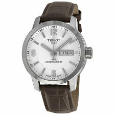 Tissot PRC 200 Automatic White Dial Brown Leather Mens Watch T0554301601700