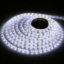 5m 500cm 3528 Cool White 300LED DC SMD Flexible Light Strip Lamp Waterproof  12V