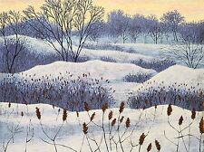 ART PRINT POSTER PAINTINGS LANDSCAPE PAINTING WINTER SNOW TREE NOFL0940