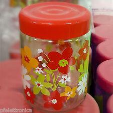 Confezione da 3pz Contenitori barattoli in vetro con tappo 800CC Sale zucchero