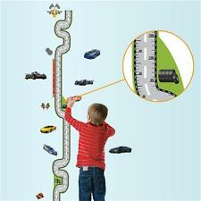 Removable Growth Chart Racing Track Height Chart Wall Decal Decor Sticker Kids