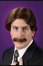 70'S 80'S RON BURGUNDY ANCHORMAN WIG & MUSTACHE COSTUME DRESS FW8198