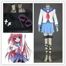 Cute Chic Yui Angel Beats Cosplay Costume Full Suit Cartoon Character Costumes