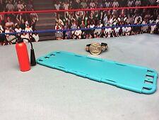 """WWE Wrestling Mattel Tag Team Title Stretcher Fire Extinguisher 6"""" Elite Figures"""