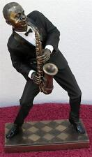 LARGE 26cm TALL JAZZ BAND ALTO SAXOPHONE PLAYER SCULPTURE Sax Music Saxophonist