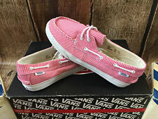 VANS ZAPATO LO PRO MICRO STRIPE RED WOMENS SIZE 7 NEW SKATE SHOES