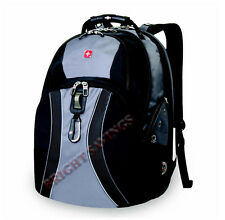 "17"" Swiss Army Laptop Backpack Back Pack, Black or Blue or Gray Selection"