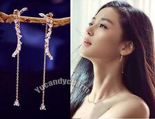 Korean TV Legend Of The Blue Sea Jun Ji-hyun Wavy Rose Gold Silver Post Earrings