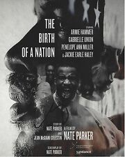 ACTOR DIRECTOR NATE PARKER SIGNED BIRTH OF A NATION MOVIE POSTER 8X10 PHOTO COA