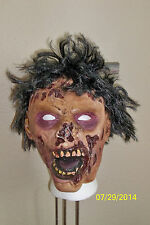ADULT GORY CREEPY ZOMBIE FULL LATEX MASK WITH HAIR COSTUME MR135005