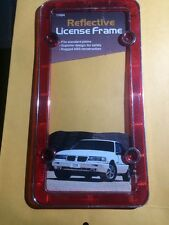Reflective Licence Plate Frame red
