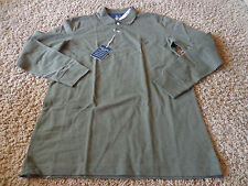 CHAPS men's NWT sz S dark green/olive colored long sleeve golf/work polo shirt
