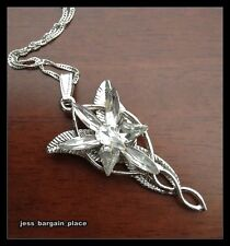 White gold GF the Lord of Rings Arwen Evenstar Necklace with Swarovski Crystal