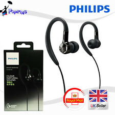 New Genuine Philips SHS8100 Black Earhook Headphones
