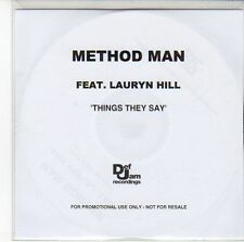 (ED43) Method Man Feat Lauryn Hill, Things They Say - DJ CD