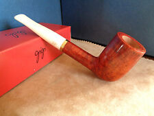 PIPA PIPE GIGI CAMINO AMBER WHITE STEM  9MM FILTER HAND MADE ITALY Q67