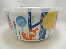 """Foxes and Owls Microwave Bowl Large 6.5"""" Steam Lid Freezer Let's Cook Multi New"""