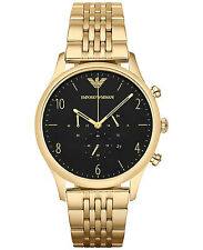 NEW EMPORIO ARMANI AR1893 MENS BETA GOLD CHRONOGRAPH WATCH - 2 YEAR WARRANTY