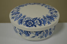 Blue and White Covered Trinket Dish