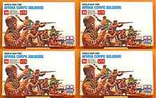ESCI ERTL #206 - 1/72 WW2 German Afrika Corps Soldiers - 4 mint boxed sets