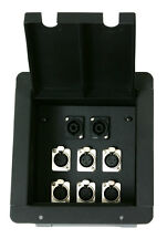 Stage Audio Floor Box w/6 XLR Female Mic + 2 Speakon Connectors By Elite Core