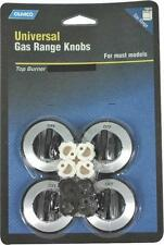 CAMCO 00943 UNIVERSAL SET (4) BLACK GAS TOP STOVE RANGE BURNER KNOBS 6838486