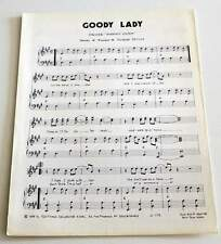 Partition vintage sheet music ANARCHIC SYSTEM : Goody Lady * 70's