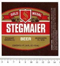 Beer Label - Steigmaier Brewery - USA - Stegmaier Beer (version b)