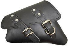 New D Leather Black Vinyl Harley Sportster 1200 883 48 72 Left Solo Saddle Bag