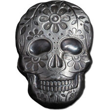 2 oz Monarch Silver Day of the Dead Sugar Skull .999 Ag Art Bar Round ! 777