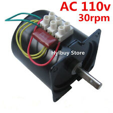 AC 110v 30rpm Reversible Motor Strong Magnetic Torque D-shape shaft slow speed