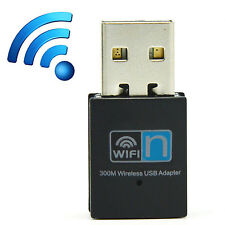 300Mbps Mini WiFi WLAN Wireless Adapter Receiver Card USB 2.0 Dongle 802.11n/g/b