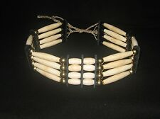 Four Row Bone Hairpipe Choker - Sioux Handmade