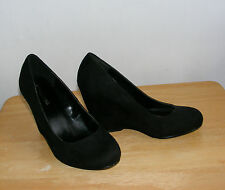 Call It Spring Black Suede Wedge Size  6 Worn Twice