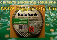 40 grams High grade solid rosin solder flux COLOPHONY/KALAFONIA 40g tin